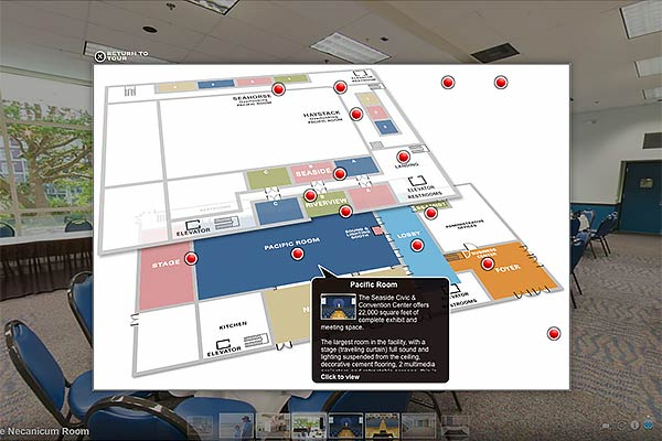 Seaside Convention Center Virtual Tour-map