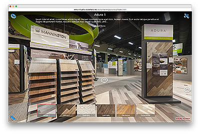 Mannington Trade Show Booth Virtual Tour