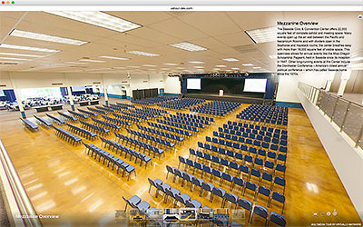 360° Virtual Tours and 360° Video for Convention and Events Centers
