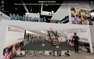 3D Virtual Tradeshow Booth Solution